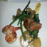 veal and shrimps