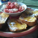 French toast on fresh bread with island honey - amazing!