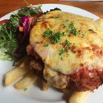 Chicken parmigiana - enough for two!