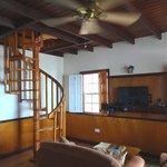 Lower floor living area.