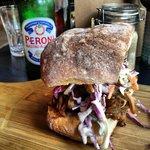 Pull pork sandwhich!! Yum ����