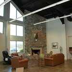 The Fireplace area