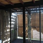 outdoor indoor shower in treehouse
