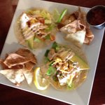 New lunch menu! These are the shrimp tacos! Yummy :p