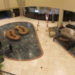 lobby from upstairs, outside the casino