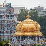 Gold Dome at The Meenakshe Temple