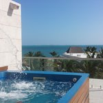 splash pool that was on the roof of our room and beautiful  view!