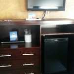 tv, fridge, cabinet