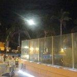 Full moon over resort