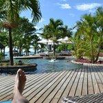 Vu sur la piscine de L'îlot bar