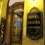 "A welcoming ""old world"" entrance to the 4-star Regina Hotel"