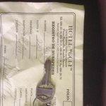 Room receipt save to get deposit back