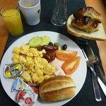 朝食は野菜が殆ど無い