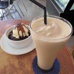 Coffee Milkshake and Warm Brownie Cup