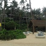 Villas vue de la plage