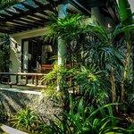 Hotel villa coté jardin