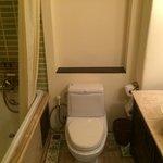 Deluxe room: Small bathroom