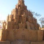 Castle creation built on Calangute beach.