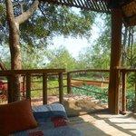Meditation hut in garden
