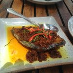 Mackeral with chilli paste