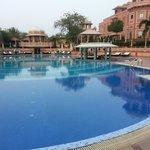 Pool with inbuilt bar