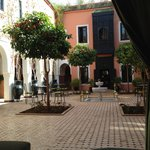 main courtyard with orange trees and fountain .. excellent wifi