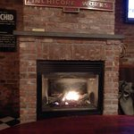 Fireplace in the pub