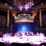 Top table and stage of Cafe de Paris