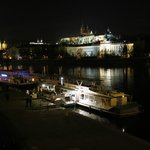 Jazzboat with Prague Castle in the background