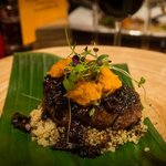 Grilled Beef Fillet, Black Bean Quinoa & Yellow Squash Aestes-Estas served withBen Marco Malbec