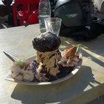 """L'excellent dessert """"Le Cèpe de Belleville""""..."""