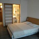 Room 249 seen from the window to the door