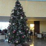 Weihnachtsdekoration in der Lobby