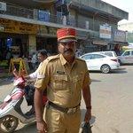Local policeman with kepi