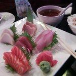 Sashimi lunch.