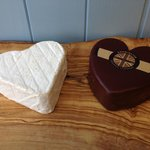 Delicious heart shaped cheeses