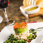 Crabcake with Basil Pesto Risotto