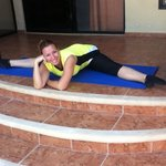 Sandra teaching Pilates