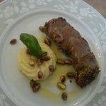 vitello in crosta di pistacchi