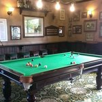 pool table at the English pub