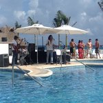 live band at the pool!