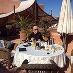 breakfast on roof terrace