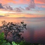 Namena Island Resort Sunset from Restaurant