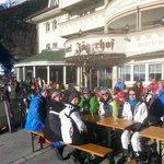 Front terrace apres ski