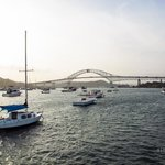 BALBOA YACHT CLUB AND THE AMERICA'S BRIDGE
