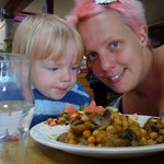 An old photo of me and my little one at the Egg when he was a toddler.
