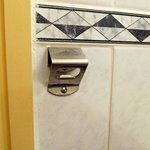 Bottle opener in bathroom!