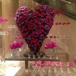 Beautiful Valentine's day decoration in the lobby