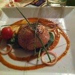 Dôme de mousseline de crabe au saumon