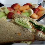 Egg Salad on Wheat, side of Fruit
